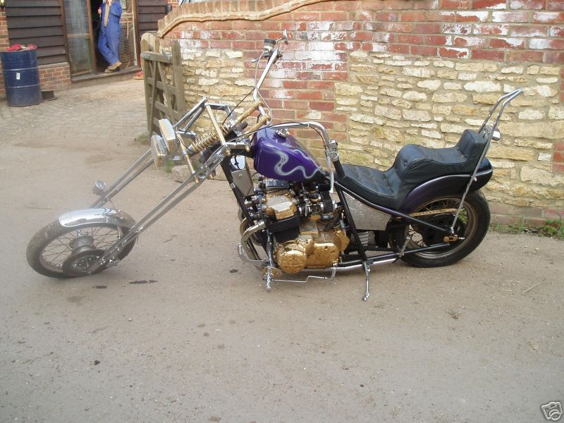 antique honda goldwing chopper