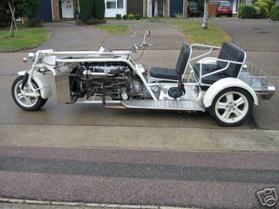 Jaguar on Custom Built V12 Fuel Injected Jaguar Based Trike