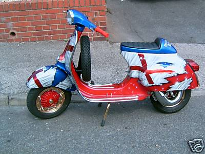 Vespa custom scooters for Small motor scooters for sale
