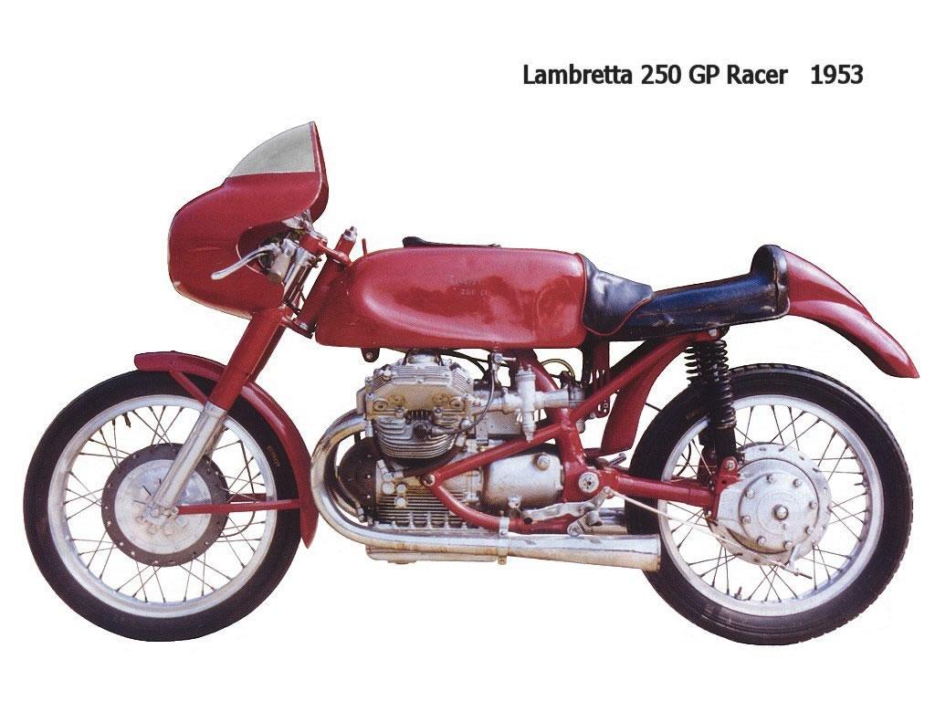 Še par neguzzi motociklov z prečnim V2 agregatom 1953%20lambretta%20250%20gp%20racer