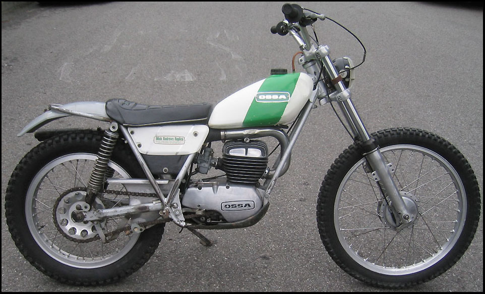 1972 Ossa 250 Trial Motorcycle
