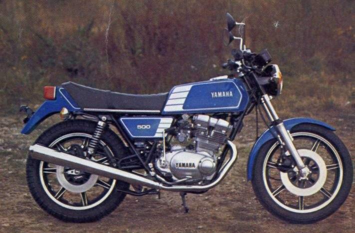 Yamaha XS500 Gal...Cooled Seats